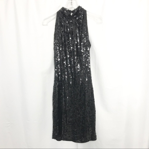Vintage Dresses & Skirts - Night Line Vintage Sequin Cocktail Dress Halter